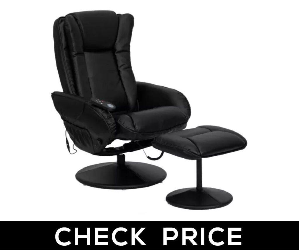 10. Flash Furniture Massaging Multi-Position Plush Recliner